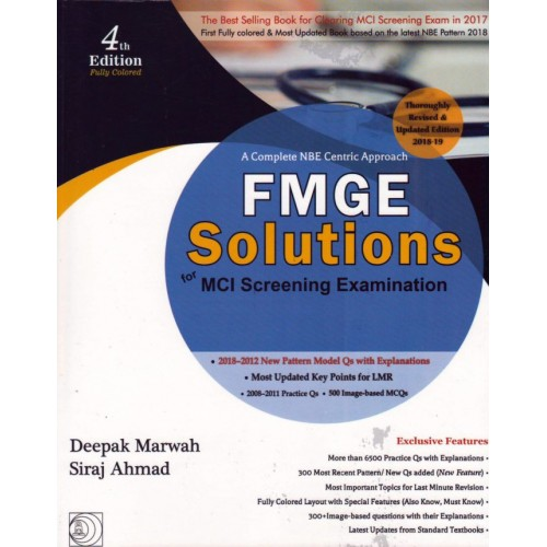 A Complete NBE Approach FMGE Solutions for MCI Screening Examination by  Deepak Marwah
