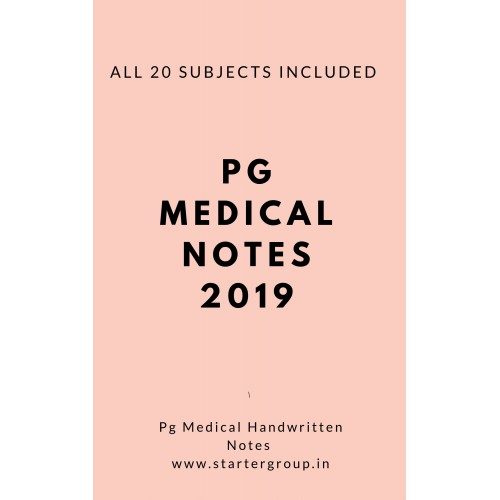 Dams Pg Medical Handwritten Notes by Damss Students 2018