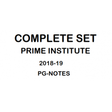 PRIME INSTITUTE  Handwritten Notes NEET-PG 2018-19 all 19 Subjects Included in this package